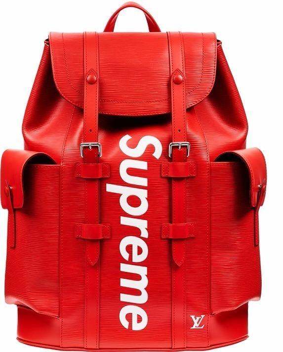 Mochila Supreme Louis Vuitton Vermelha Grande Escola - R  160 756ce6bc2fa