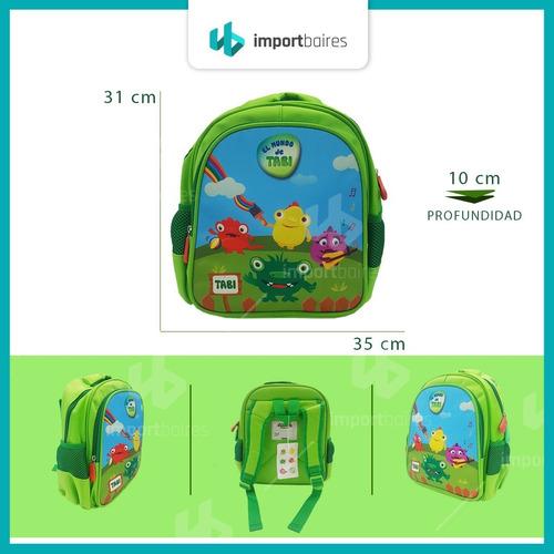 mochila tabi infantil jardin niños niñas escolar espalda