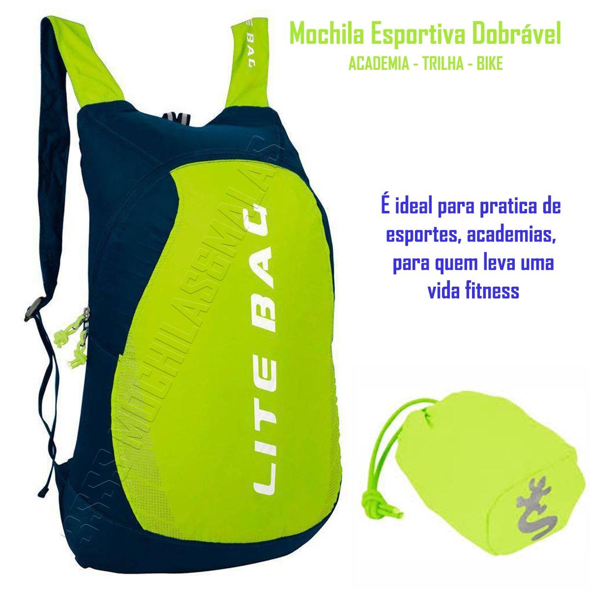 bd8a458e2 Mochila Tactel Dobrável C/estojo Esportes Natação Lt-1035 - R$ 104 ...
