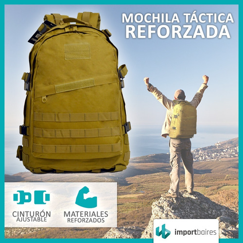 mochila tactica asalto militar policia patrulla trekking seguridad mochilero bolso camping uso diario grande reforzada