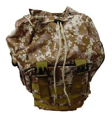 mochila tactica camping militar camuflaje cafe de 50lt