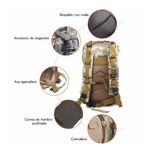 mochila táctica de camping mochilero capacidad 30 lts