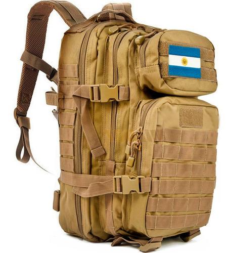mochila tactica militar camping 40 lts bandera argentina