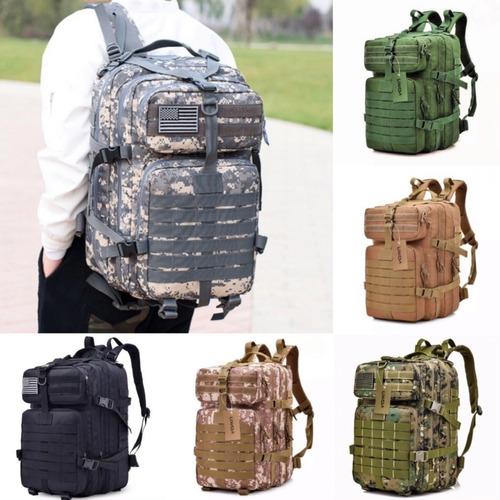 mochila táctica militar campismo laptop escolar oficina deportiva viaje multiusos alta resistencia 40 litros