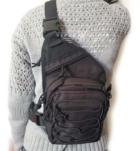 mochila táctica militar cangurera de viaje bolsa lateral pechera deportiva excursiones recolector mensajero riñonera