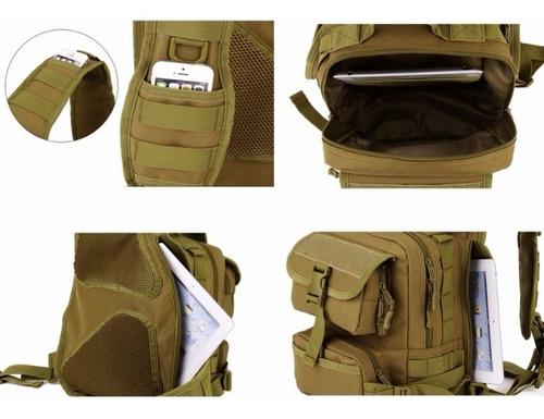 mochila tactica militar pechera + navaja gratis extra grande