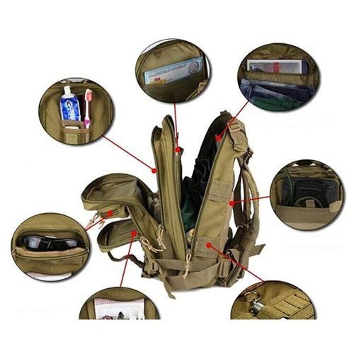 mochila tática militar assalt 30l prof 3d camuflada floresta