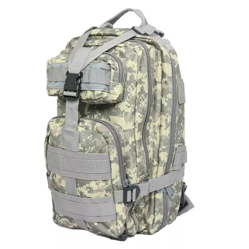 mochila tática militar assalt 30l profissional cinza digital