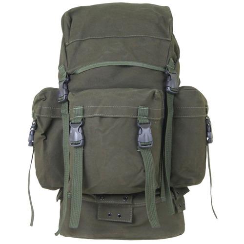mochila tática militar paraquedista 45 litros bravo verde