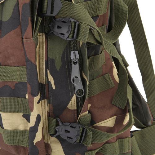 mochila tática molle modular militar camuflada woodland