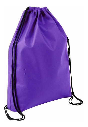 mochila tipo morral ecológico, en tela tnt, 34 x 44 cm.