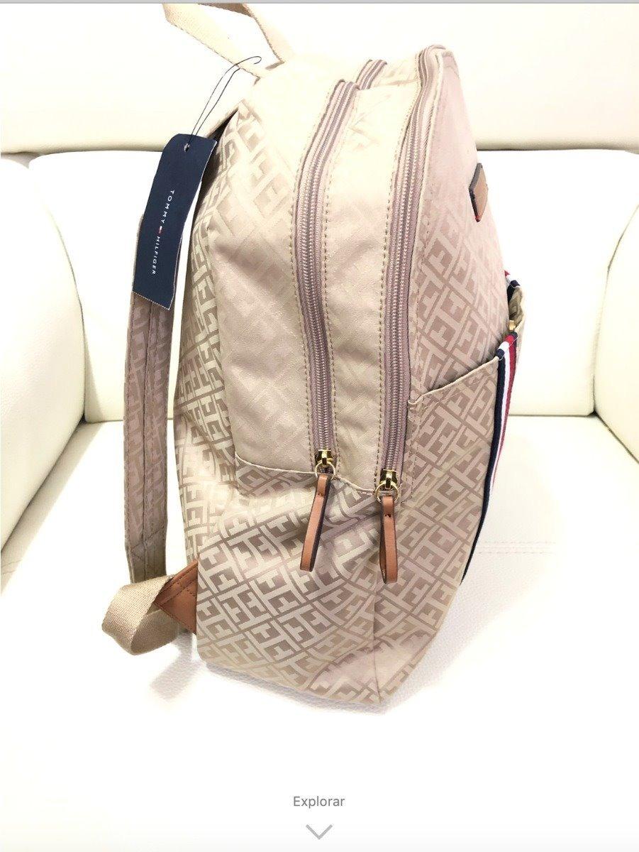 9e57de2eb16 mochila tommy hilfiger beige laptop original backpack. Cargando zoom.
