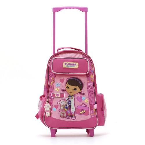 mochila top3 oficial con ruedas dra. juguetes