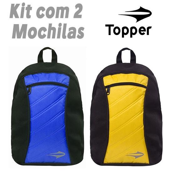 0e9650debf Mochila Topper Sport 17 (kit 2 Peças) Original 12x Sem Juros - R ...