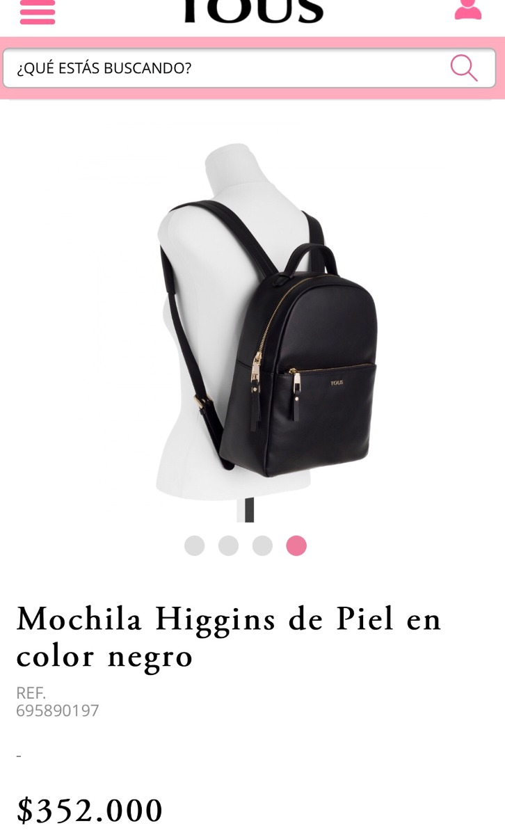 código promocional llega personalizadas Mochila Tous 100 % Original Y De Cuero