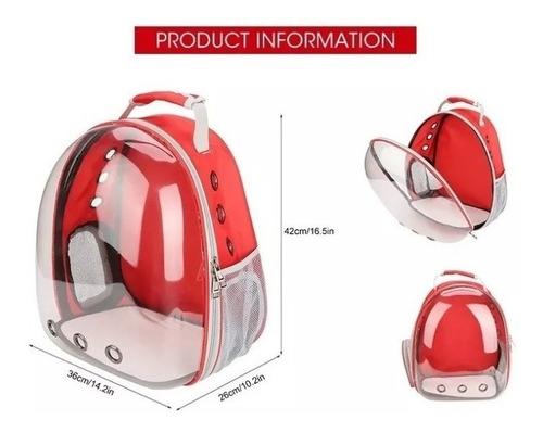 mochila transportadora para mascota transparente burbuja