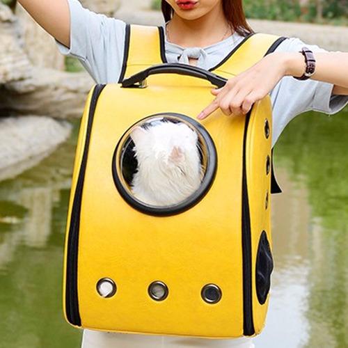 mochila transportadora para perro o gato con burbuja h6024