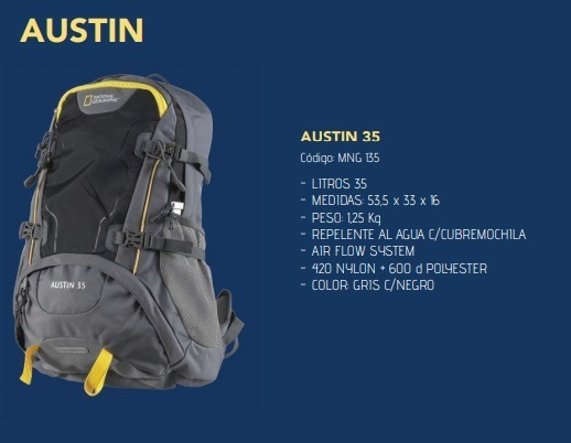 92aa382e9 Mochila Trekking National Geographic Austin 35 Litros - $ 4.199,99 ...