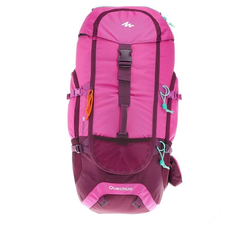e9b5d8443 mochila trekking quechua forclaz 50 rosa. Cargando zoom.