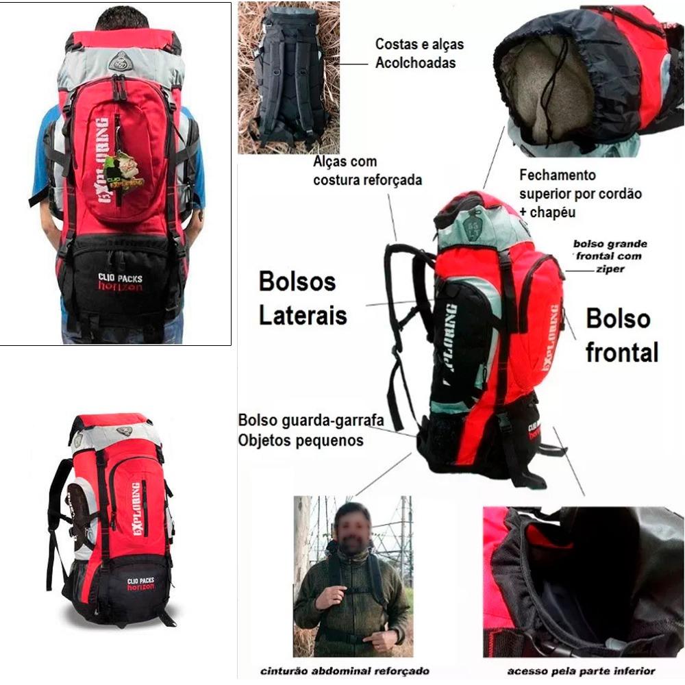 1bd69a96d mochila trilha camping 70 litros impermeável - mega promoção. Carregando  zoom.