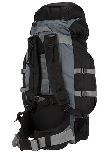 mochila trilhas e rumos montanha 75 lt - preta c/ verde