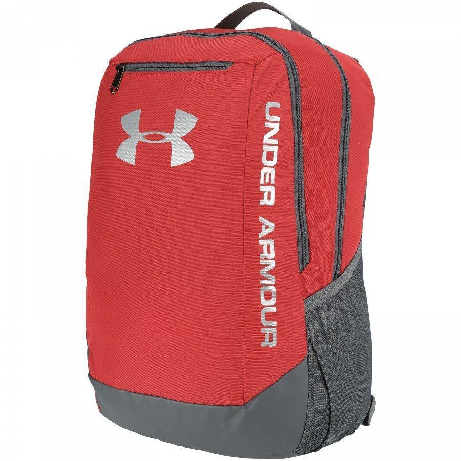 1ed2e98832d2b mochila under armour hustle backpack (vermelha cinza). Carregando zoom.