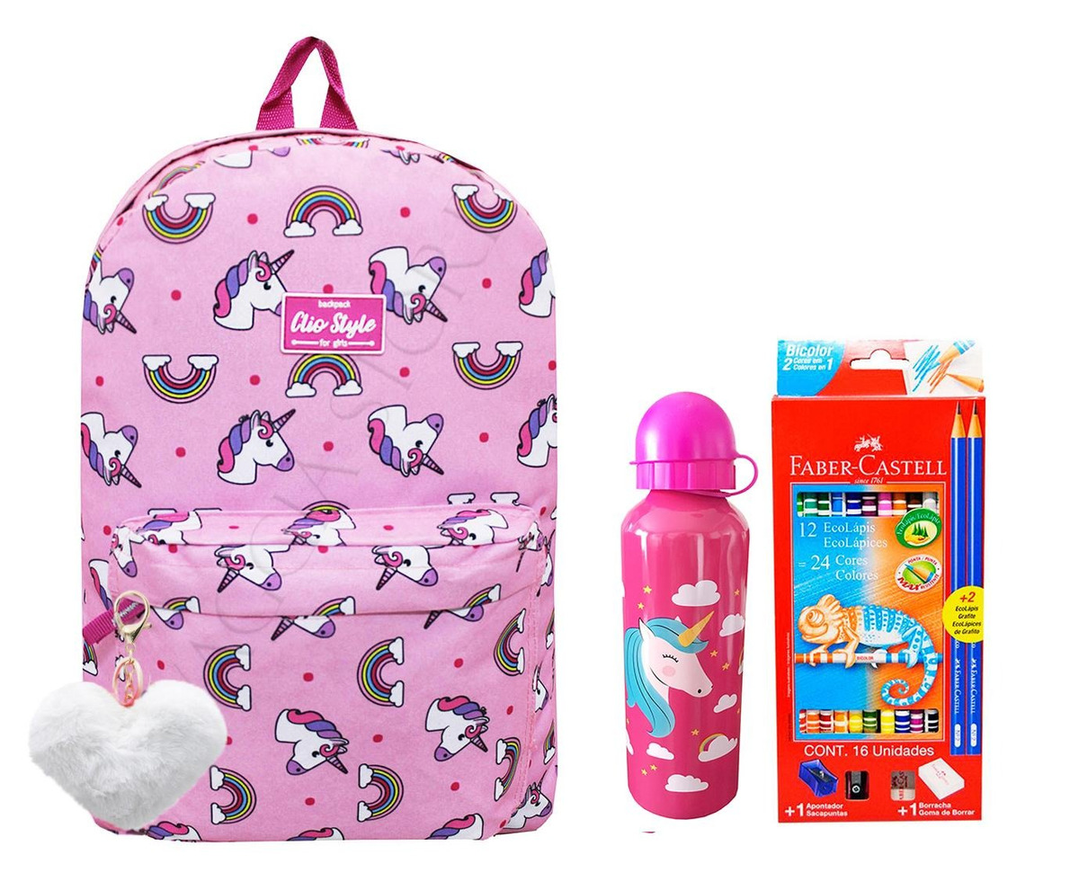 2239f4a88f mochila unicórnio escolar femininal mf9107 + kit. Carregando zoom.