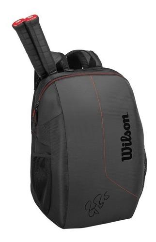 mochila unisex wilson - fed team backpack negro/rojo - tenis