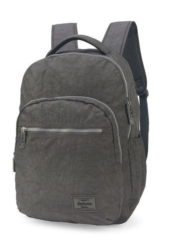 mochila up4you crinkle cinza- 48504