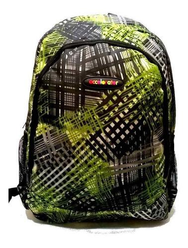 mochila urbana escolar accelorator dos divisiones 3 colores