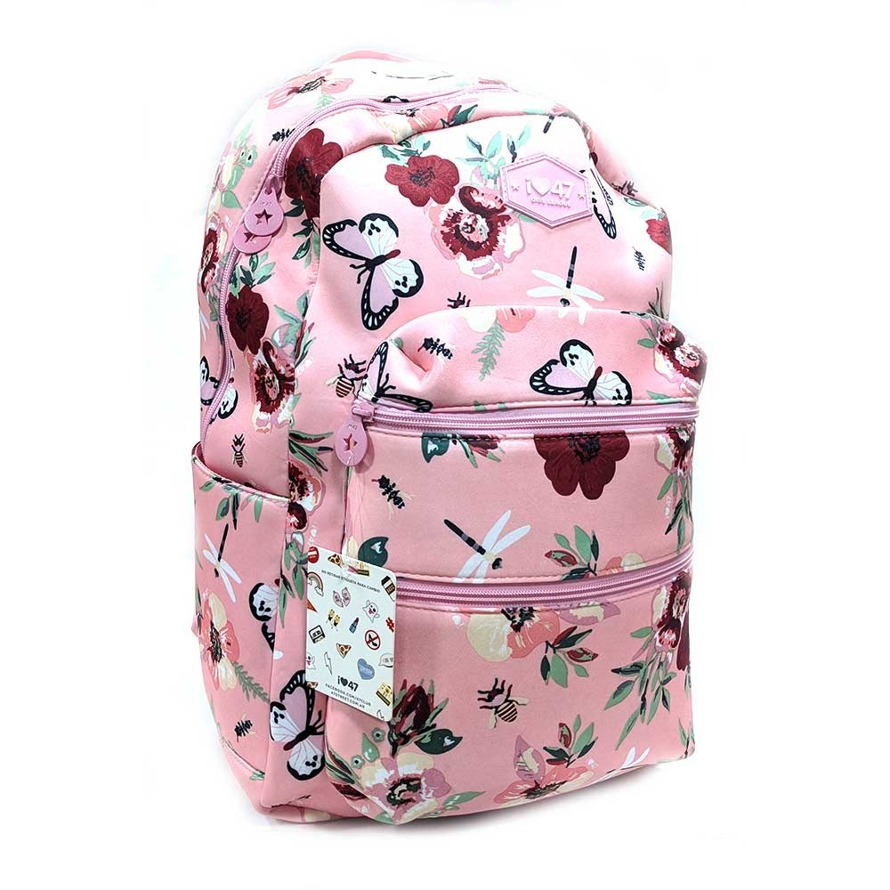 mochila urbana mujer flores rosas 19p - 47 street. Cargando zoom. dbd9d12085489