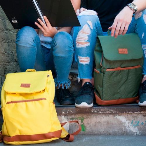 mochila urbana universitaria colegio notebook c/tapa hygge