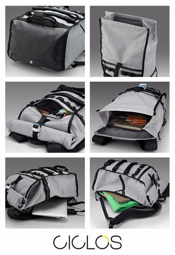 mochila urbana viaje shimano excalibur t23 lts gris