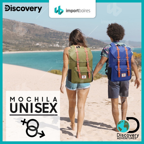 mochila urbana vintage retro correas porta notebook 15,6