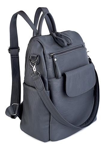 mochila uto cuero sintetico con bolsillos laterales