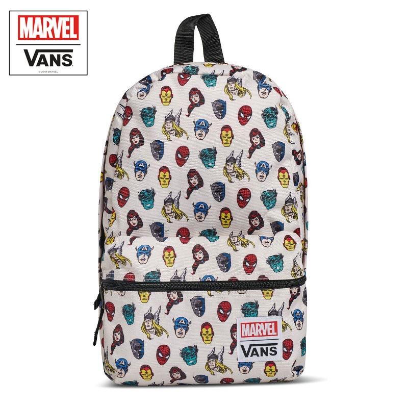 Mochila Vans Avengers Calico Branca 16 e5b25621798