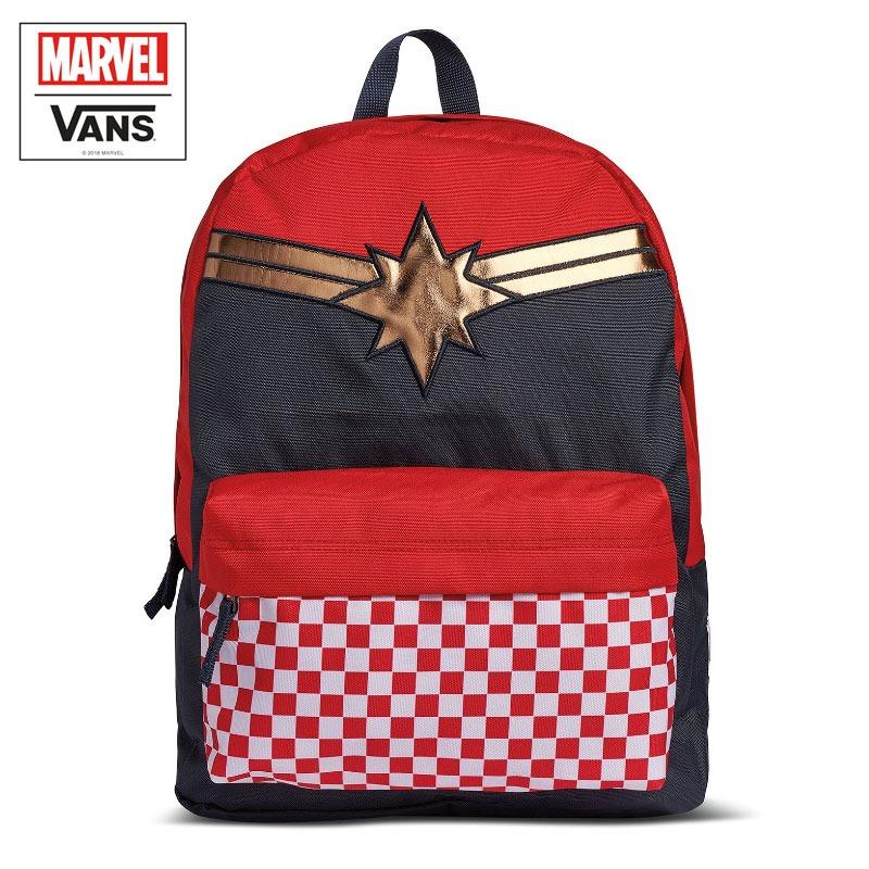 Mochila Vans Captain Marvel Vermelha 21 L - R  249 488c44c499e