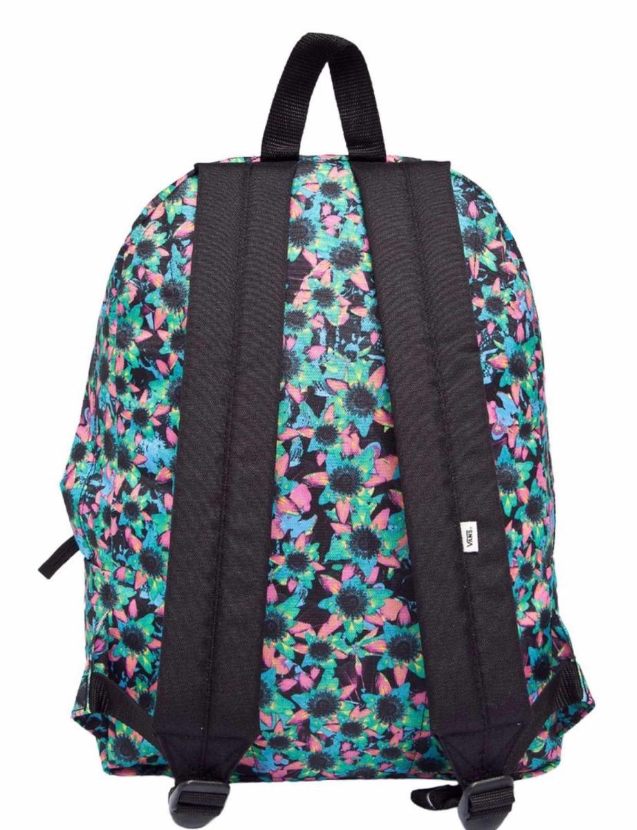 mochila vans realm backpack (floral mix) preto. Carregando zoom. 45f8eacff2c