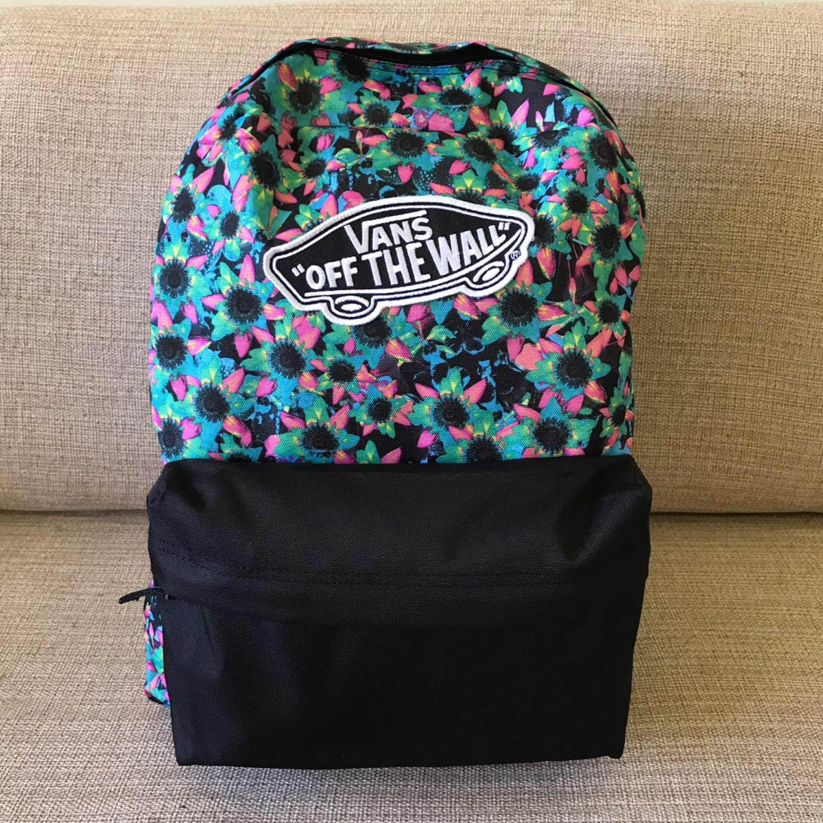 Mochila Vans Realm Backpack (floral Mix) Preto