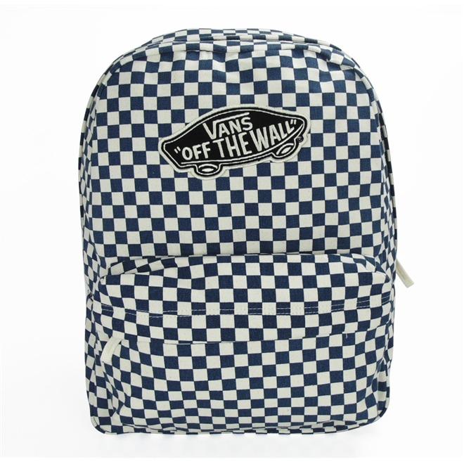 Mochila Vans Realm Checkerboard Morocan Blue - R  229 49fbf2654a8