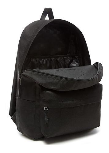 mochila vans unisex negra realm backpack vn0a3ui6blk