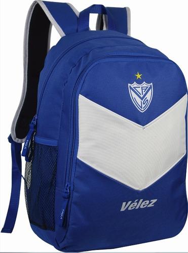 mochila velez sarsfield licencia oficial escolar deportiva
