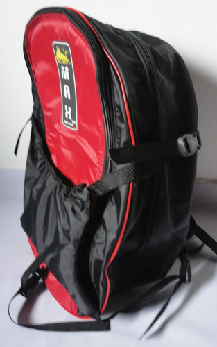 mochila vermelha porta capacete p/ notebook  c/ capa chuva m