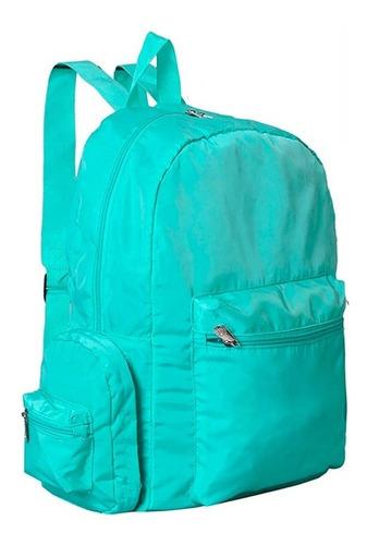 mochila viaje plegable premium reforzada muy amplia bosillos