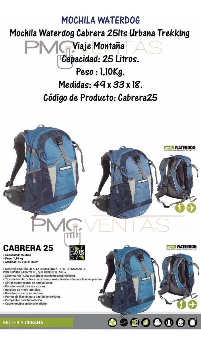 f1928cdd68 Mochila Waterdog Cabrera 25lts Urbana Trekking Viaje Montaña ...