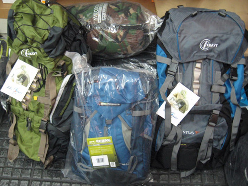 mochila waterdog litros camping