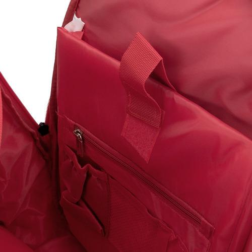 mochila wilson esp 600d vermelha e cinza