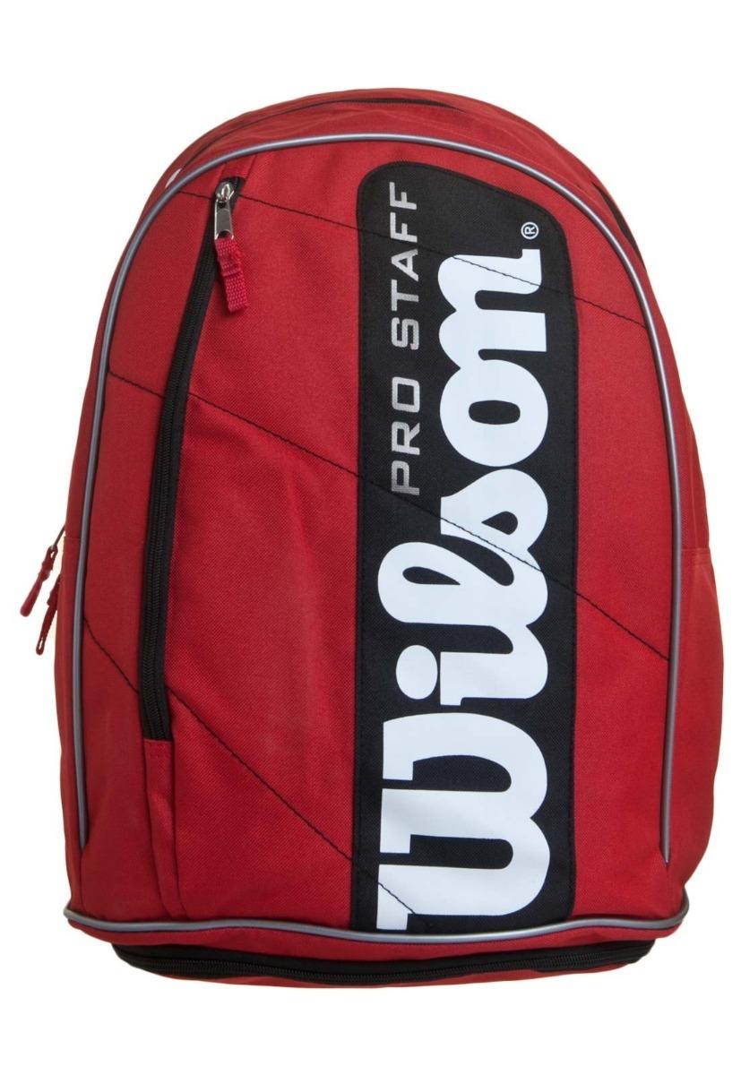 3497b63b7e mochila wilson esportiva pro staff raquete vermelha e preta. Carregando  zoom.