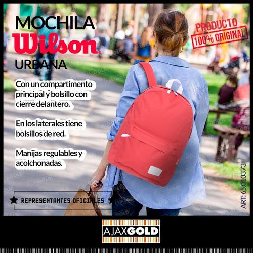 mochila wilson porta notebook urbana deportes gym reforzada