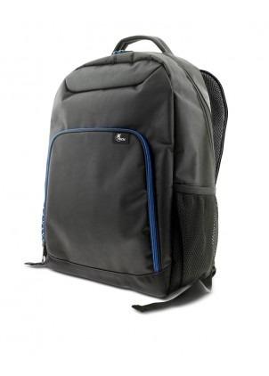 mochila x - tech xtb - 211 negra con azul 15.6